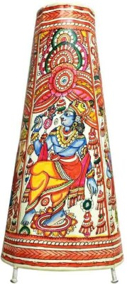 Toygully Radha Krishan Hand painted Leather Table Lamp