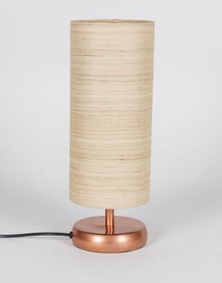 Orange Tree Erudite Copper PL with Silk textured Shade Table Lamp