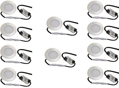 EPSORI 4Watt 6500k White Round Indoor Cosiva Led Down Light Set of 10 Night Lamp