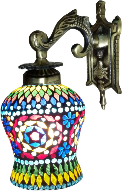 Weldecor Antiqua Brasso Diamond Era Night Lamp(30 cm, Multicolor)