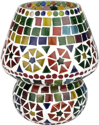 EarthenMetal Handcrafted Colourful Design Mosaic Glass Table Lamp
