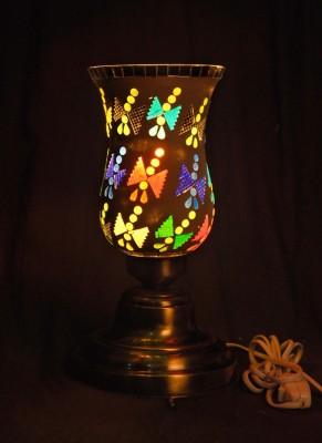 Gojeeva Antique Mosaic Work Decorative 15 Table Lamp