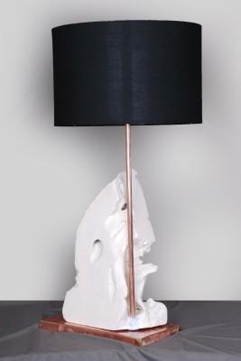 malji's driftwood art white wood Table Lamp