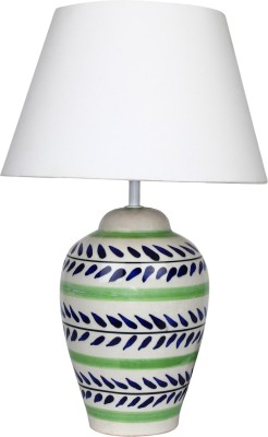 The Decor Mart Blue & Green Ceramic Table Lamp