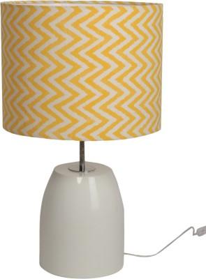 Bespoke Crafts HUMPTY WHITE & YELLOW ZIGGY Table Lamp