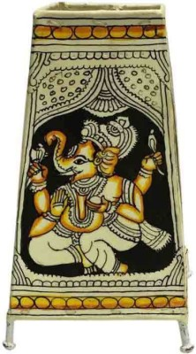 Toygully Hand Painted Ganesha on Leather Table Lamp