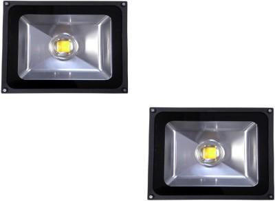EPSORI 50 Watt Waterproof Bloom LED Flood Light - Set Of 2 Night Lamp