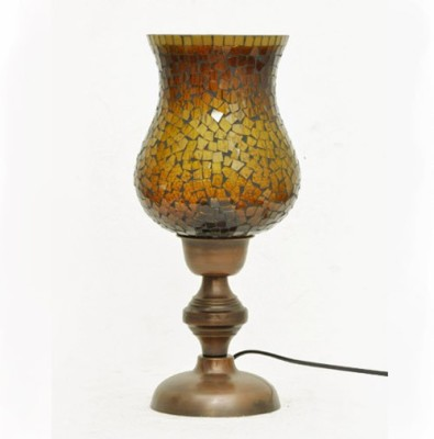 AsAura Mosaic Glass Chimney Table Lamp