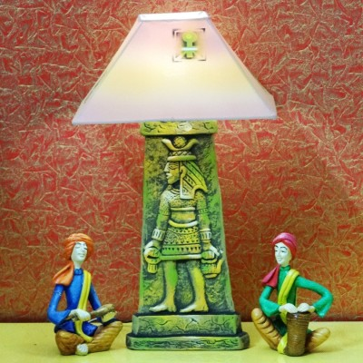Kalaplanet Handpainted Terracotta - Egyptian Guard Night Lamp