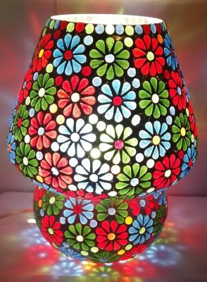 Priyal Artz Multi Color Flowers Table Lamp
