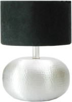 Mythoughts Aluminium Flat Matka Table Lamp(41 cm, Silver, Black)