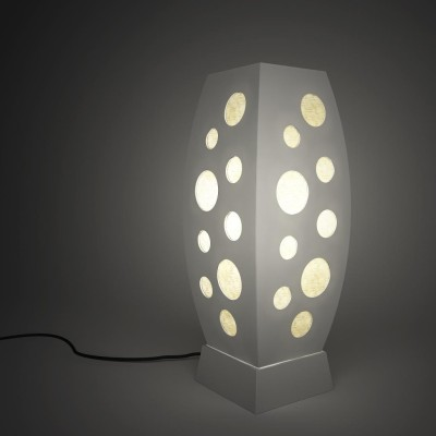 DecorNation Discovery Rocket Circle Pattern Table Lamp