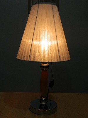 GiftsGannet White Shade With Metal Base Table Lamp