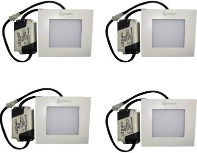 EPSORI 4Watt 6500k White Square Indoor Cosiva Led Down Light Set of 4 Night Lamp