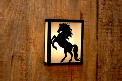 Logam Mustang Metal Cut Night Lamp