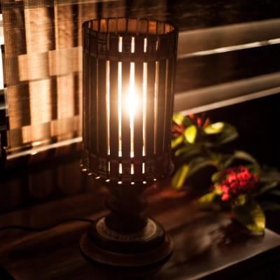 ExclusiveLane 15 Inch Cylindrical Maharaja Table Lamp