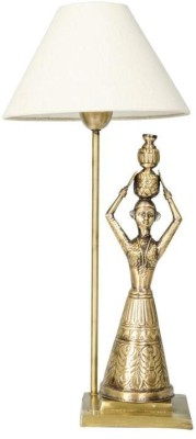 Fos Lighting Hand Carved Brass Rajasthani Village Table Lamp