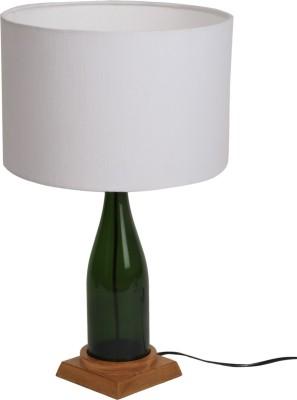 Bespoke Crafts WHITE CHAMPANGE ROUND Table Lamp