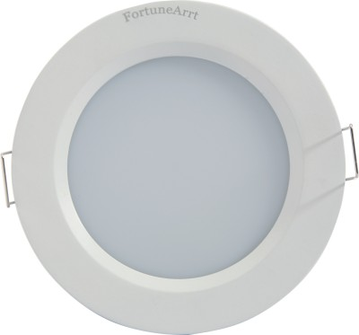FortuneArrt 12 Watt Round LED Down Light (Mid White) Night Lamp