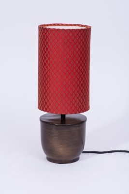 Courtyards Banaras Antique with Red Shade Table Lamp