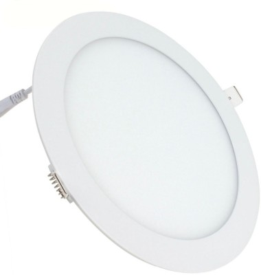 Bene LED 12w Round Panel Ceiling Lamp (3 cm, Color Of Fixture White, Color Of LED Warm White (Yellow)) Night Lamp
