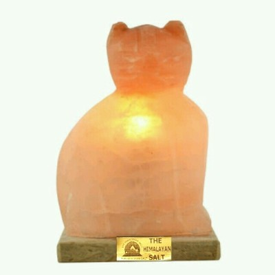 The Himalayan Salt Cat Shape Table Lamp