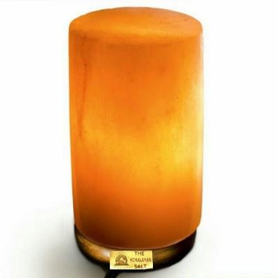 THE HIMALAYAN SALT cylinder shape Table Lamp