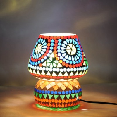 Craftkriti Mosaic Glass Table Lamp