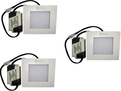EPSORI 4Watt 6500k White Square Indoor Cosiva Led Down Light Set of 3 Night Lamp