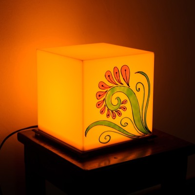 eCraftIndia Flower Painted Table Lamp