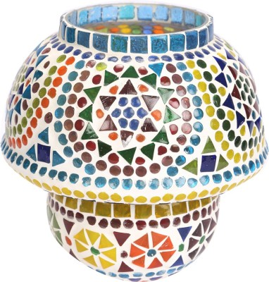 EarthenMetal Mosaic Style inverted bell shaped Table Lamp