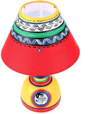 Indikala Terracota with Cream Shade Table Lamp