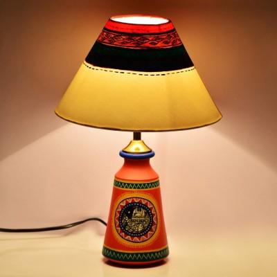 ExclusiveLane Warli Hanpainted Tapered Table Lamp