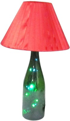 Aadhya Creations Wine Led With Red Shade Table Lamp