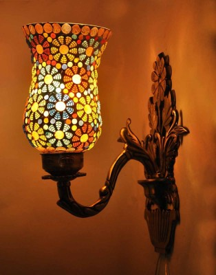 Gojeeva Antique Finish Aluminium Base 1 Class With Mosaic Work Night Lamp