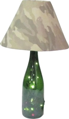 Aadhya Creations Wine Led With Army Shade Table Lamp