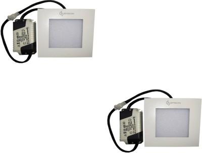 EPSORI 4Watt 6500k White Square Indoor Cosiva Led Down Light Set of 2 Night Lamp