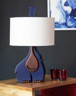 Orange Tree Tusker Blue Table Lamp