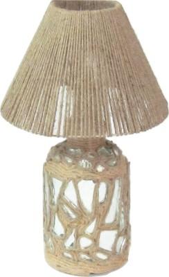 Aadhya Creations Bp Mosiac With Rope Shade Table Lamp
