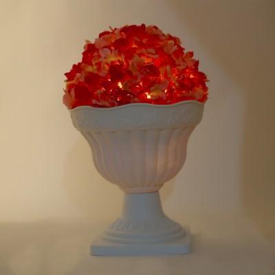 Thinking Of You European Vintage Hydrangea Plug Free LED Lit Vases Table Lamp