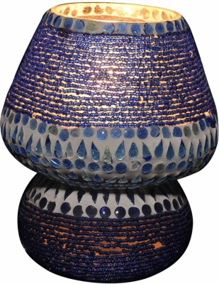 Gojeeva Blue Potta Small Table Lamp(16 cm, Blue)
