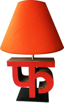 Sylvn studio Fascinating FA letter lamp orange Table Lamp