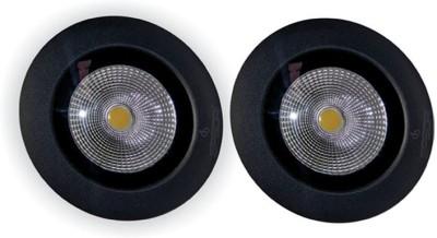 EPSORI 16 Watt Round Water Proof White Anox Led Flood Light set of 2 Night Lamp