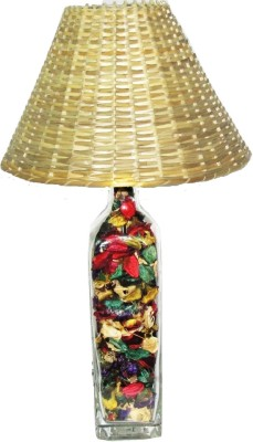 Aadhya Creations GL Color Leafy Bamboo Straight Table Lamp