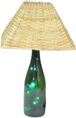Aadhya Creations Wine Led With Bamboo Shade Table Lamp