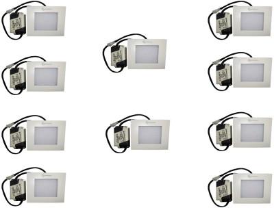 EPSORI 4Watt 6500k White Square Indoor Cosiva Led Down Light Set of 10 Night Lamp