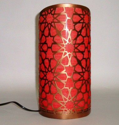V Design N Decor Copper with Red shade Table Lamp