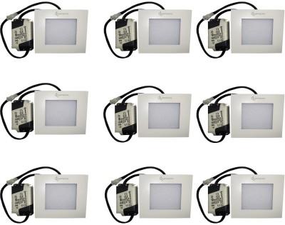 EPSORI 4Watt 6500k White Square Indoor Cosiva Led Down Light Set of 9 Night Lamp