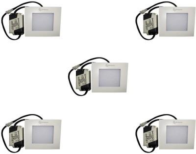 EPSORI 4Watt 6500k White Square Indoor Cosiva Led Down Light Set of 5 Night Lamp