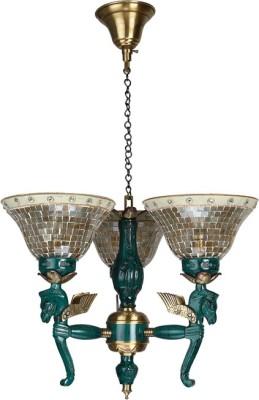 Fos Lighting Pegasus Seahorse 3 Light Chandelier - Golden Night Lamp
